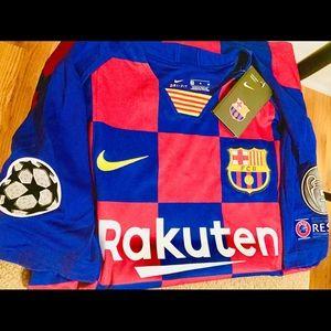 Messi Barcelona Home Jersey UEFA